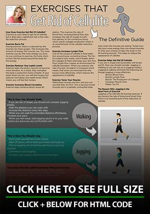 Infographic: Module 6 - Exercises to Help Get Rid of Cellulite
